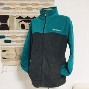 Columbia Fleece Turquoise Jacket Unisex size L
